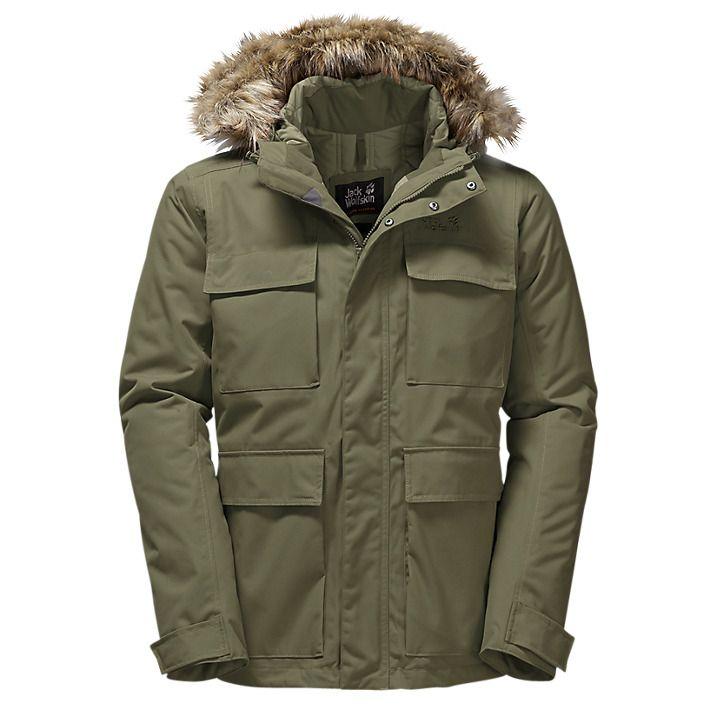 Buy Jack Wolfskin Point Barrow Waterproof Insulated Men's Parka Jacket, Burnt Olive, XL Online at johnlewis.com