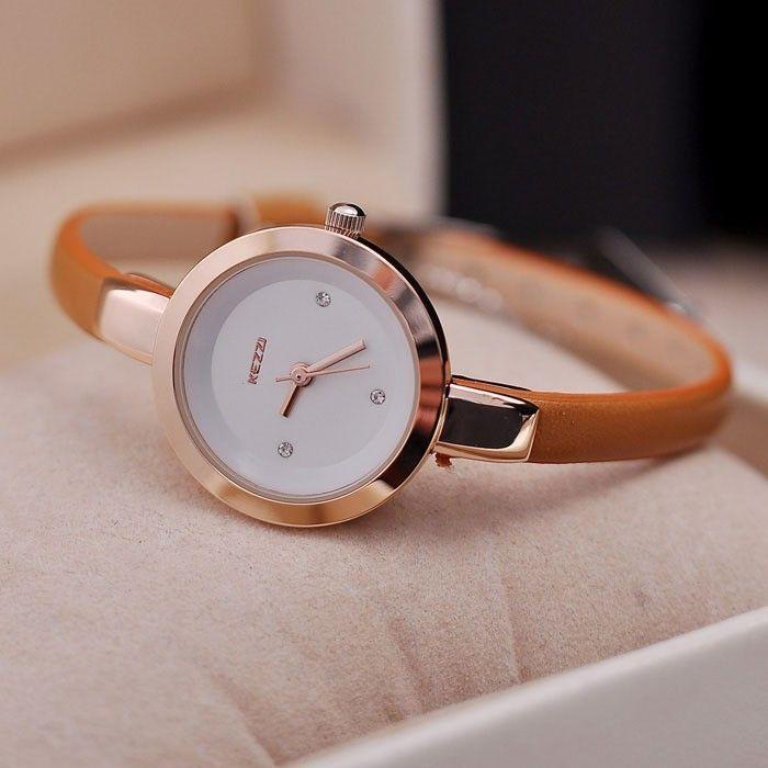 Quartz Watch New Fashion Digital Women Wrist watches Women Silver Watches Dress Leather Pu Thin Brecelet Strap Casual clock #WomenWatches