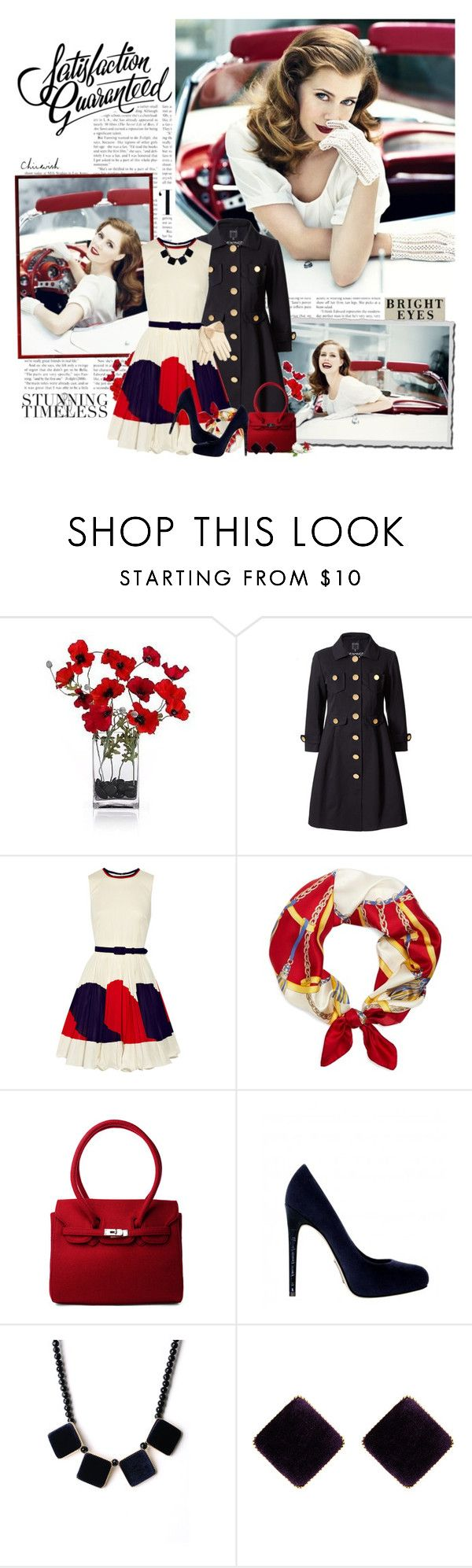 """""""Stunning and Timeless"""" by violetta-valery ❤ liked on Polyvore featuring Orla Kiely, Milly, Chicwish, Brooks Brothers, Alejandro Ingelmo, Accessorize, MANGO, milly, white and wwii"""