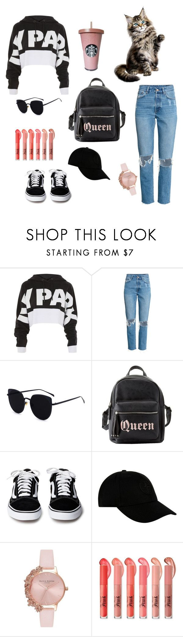"""love"" by benilounoma ❤ liked on Polyvore featuring Ivy Park, Charlotte Russe, STONE ISLAND and Olivia Burton"