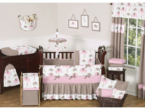 You Ll Love The Elephant 9 Piece Crib Bedding Set At Wayfair Great Deals On All Baby Am Baby Girl Crib Bedding Sets Girl Crib Bedding Sets Crib Bedding Girl