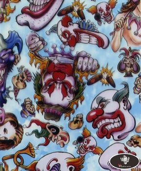 New arrival scary clown pattern hydro water transfer printing hydrographics film,50cm wide,hydro dipping HYA-764