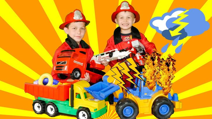 Little heroes firefighters 18 to the rescue builders with fire truck toy...