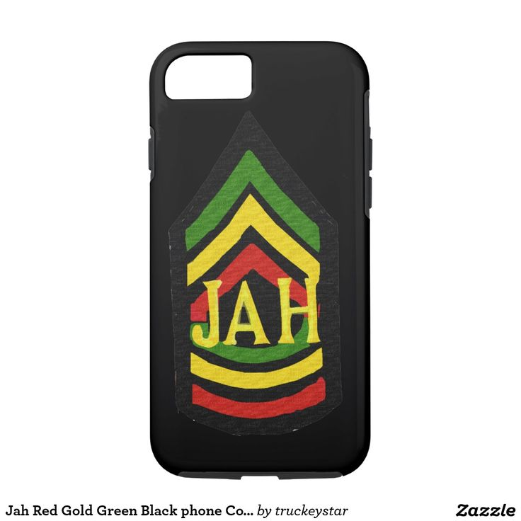 Jah Red Gold Green Black phone Cover