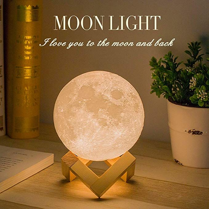 Mydethun Moon Lamp Moon Light Night Light For Kids Gift For Women Usb Charging And Touch Control Brightness 3d Printed Warm Mond Lampe Nachtleuchte Nachtlicht
