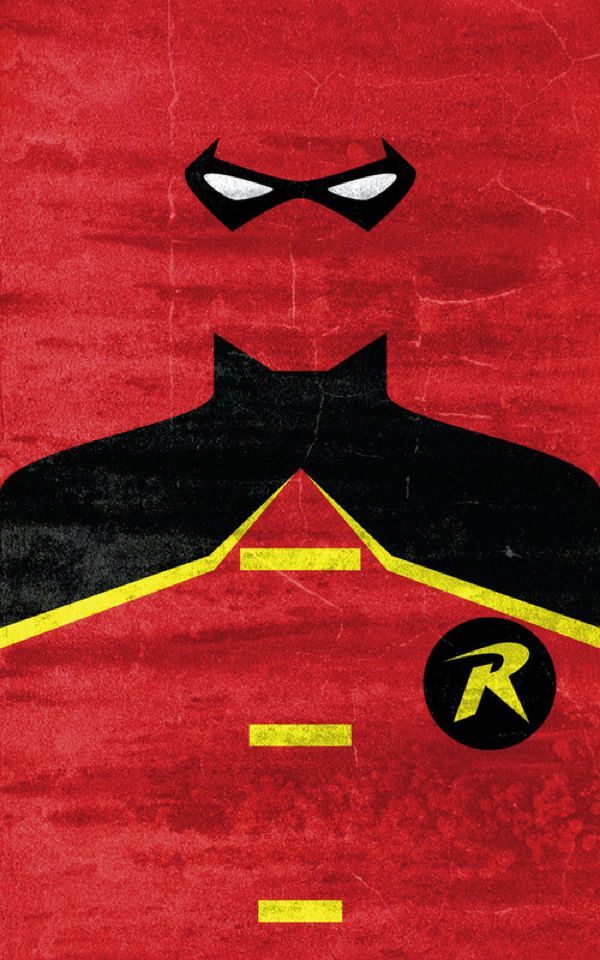 Minimalist Superheros Design - I love this new take on these classic designs. This costume looks more like Tim Drake..but Dick Grayson is my favorite Robin