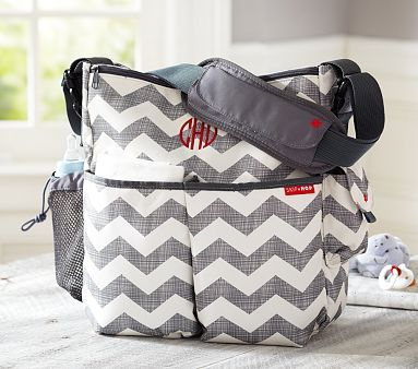 Gray Chevron Skip Hop Duo Diaper Bag Pottery Barn $44 My Mom got me this bag! So happy! Thanks, Mimi :)