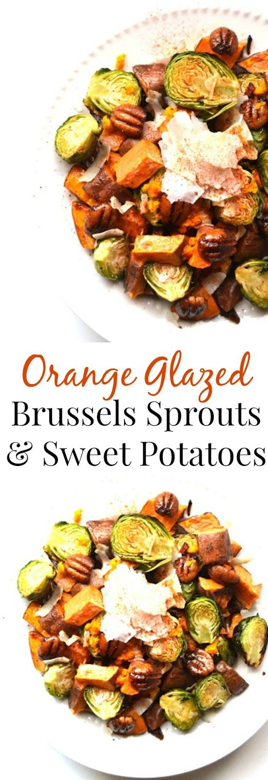 ... Glazed Brussels Sprouts and Sweet Potatoes are a perfect mix of sweet