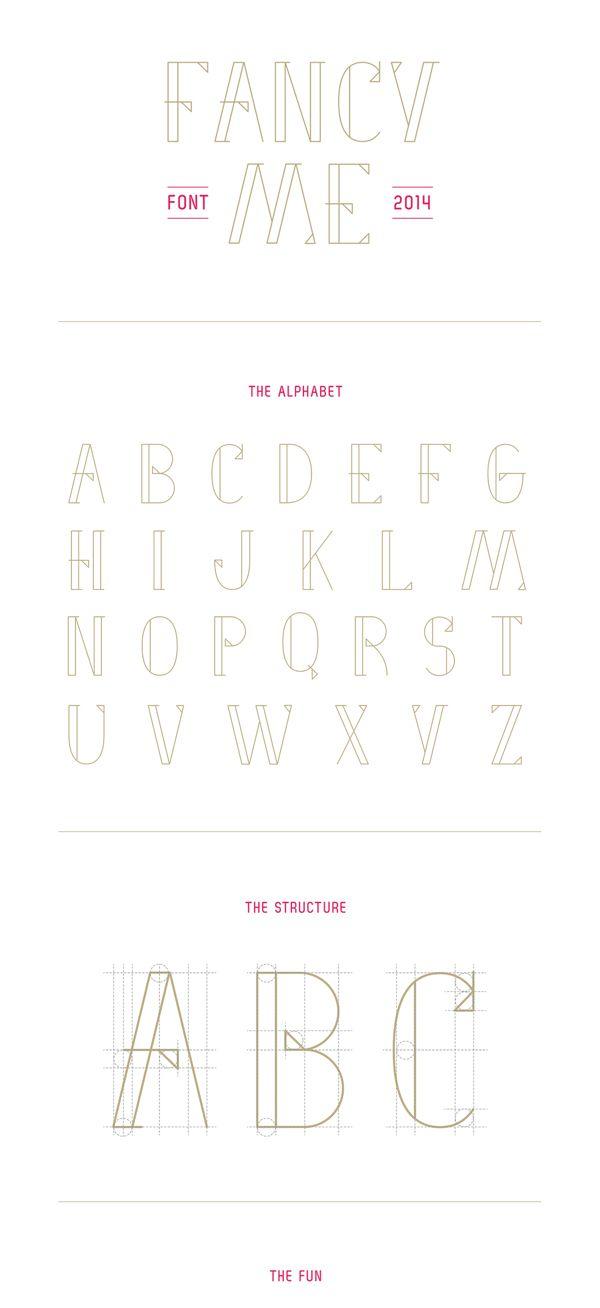 FANCY ME (free font) by Marie-Michelle Dupuis, via Behance