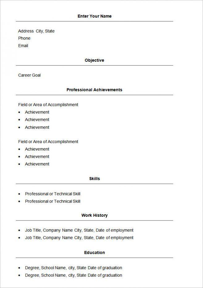 Simple Resume Format In Word Bravebtr Amazing Simple Resume Format In Word Bravebtr Simple Resume F Simple Resume Template Basic Resume Basic Resume Format