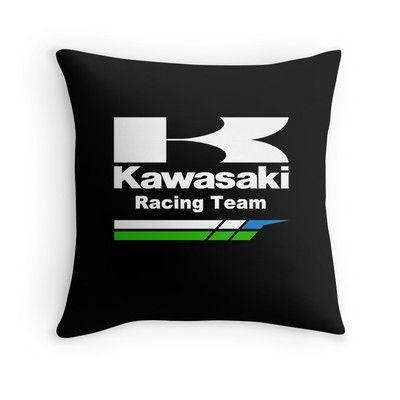 Kawasaki racing team throw pillow