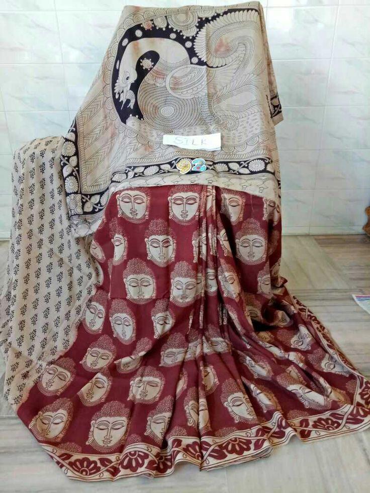 Kalamkari silk cotton sarees  Click here to buy https://www.moifash.com/south-ethnicz/product?id=58db528c753d882d543cc7f3