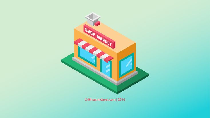 Building Shop Isometric - Illustrator Tutorials