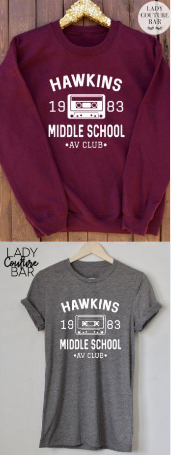Hawkins Middle School AV Club Tee, Stranger Things Shirt, Stranger Things Tee, Eleven Hopper, ladies Unisex Tee, Stranger Things Sweatshirt, Stranger Things Jumper