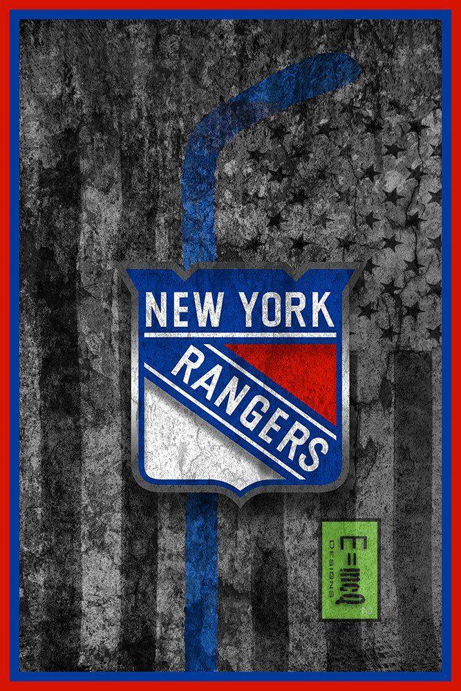 New York Rangers Hockey Flag Poster, New York Rangers Flag Print, NY R                      – McQDesign