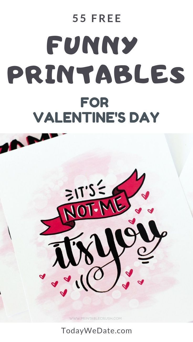 image relating to Funny Valentines Day Cards Printable referred to as 105 Humorous Valentines Working day Printables Towards Speculate Your
