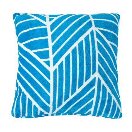 Elemis Cushion Flannelette Multi Chevron Teal