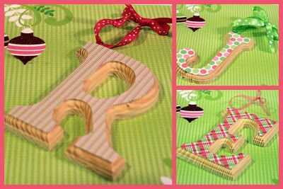 DIY - Wooden letter ornament tutorial. So easy and quick!