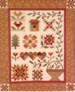 A Quilter's Garden...don't you just love sampler quilts! Pattern available at http://www.therabbitfactory.com