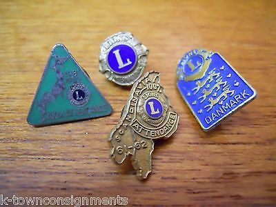 JAPAN DENMARK SCANDINAVIA VINTAGE LIONS CLUB INTERNATIONAL COUNTRIES MEMBER PINS