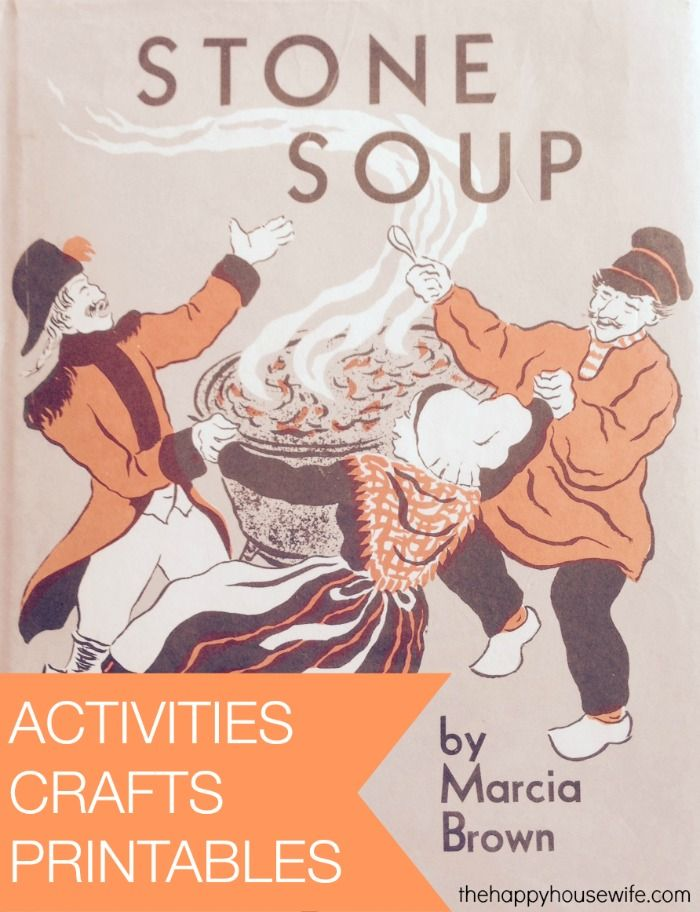 31 Days of Read-Alouds: Stone Soup with activities, crafts, and printables included! | The Happy Housewife