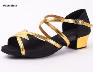 latin dance shoes professional #106 black