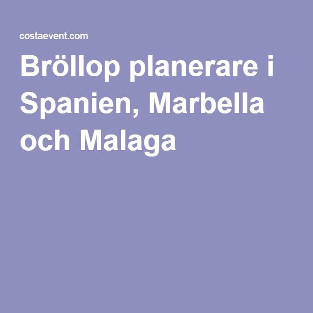 Bröllop planerare i Spanien, Marbella och Malaga