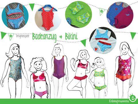 Nähanleitung und Schnittmuster Bikini Badeanzug - Anleitung bei makerist