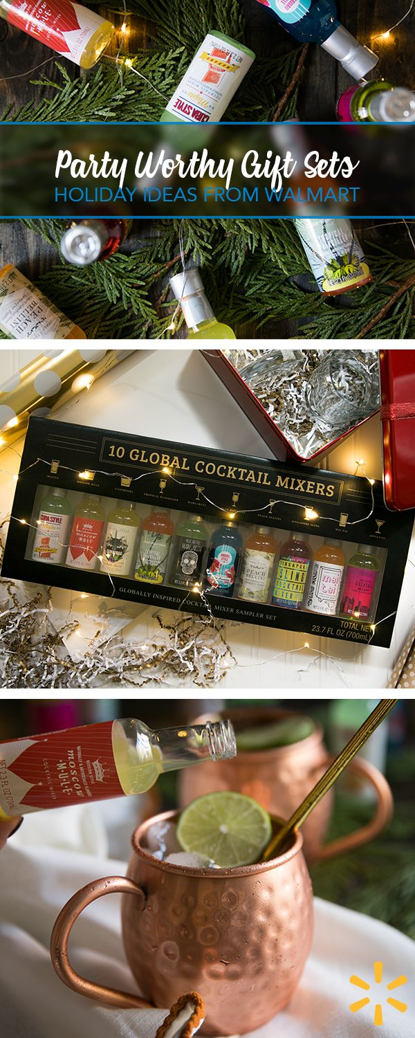 Party Worthy Gift Sets - Why choose a favorite cocktail if you could just taste them all? These 10 single-serve cocktail mixers make a fun holiday gift or a simple party hosting hack.
