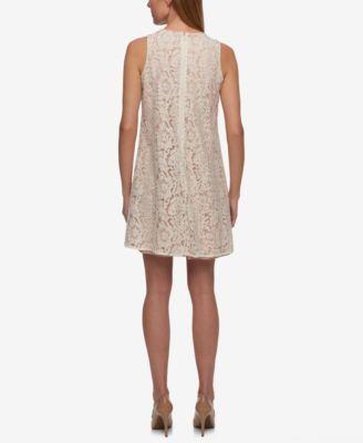 Tommy Hilfiger Lace Trapeze Dress - Ivory/Cream 18