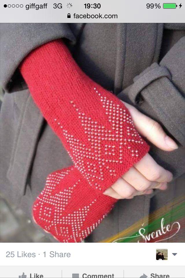 Beaded wrist warmers