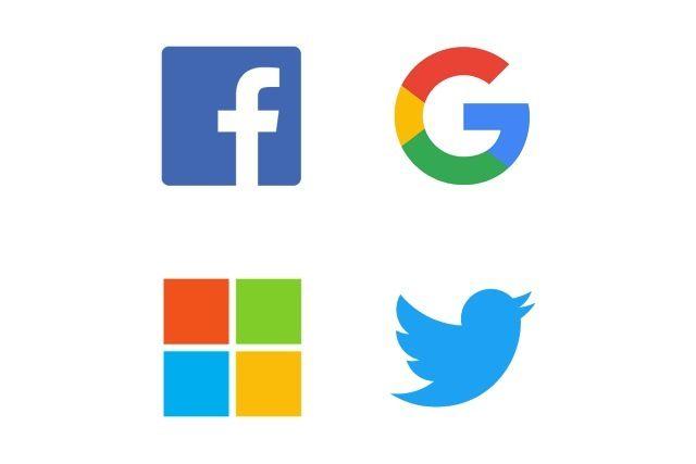 Facebook Google Microsoft Twitter Logos Twitter Logo Logos Open Source Data