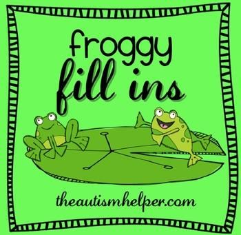 Froggy Fill Ins {puzzles and games to work on teaching verbal responses} by theautismhelper.com
