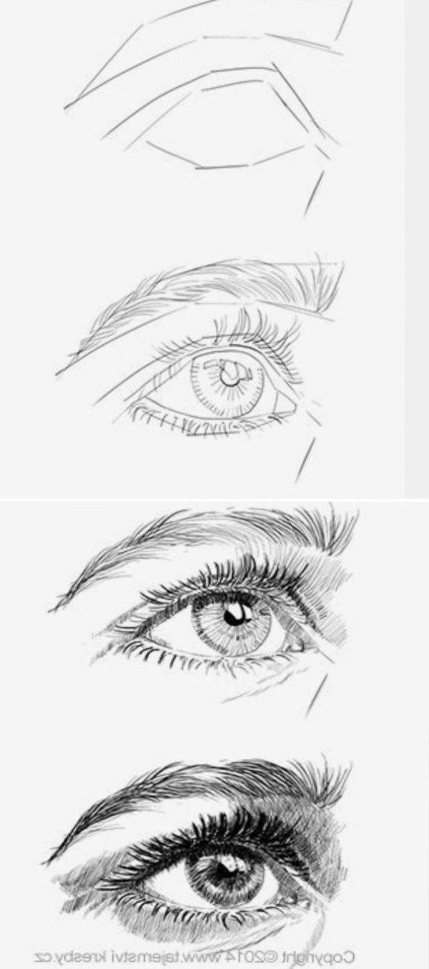 20 erstaunliche Eye Drawing Tutorials & Ideas #DrawingTechniques img_5607