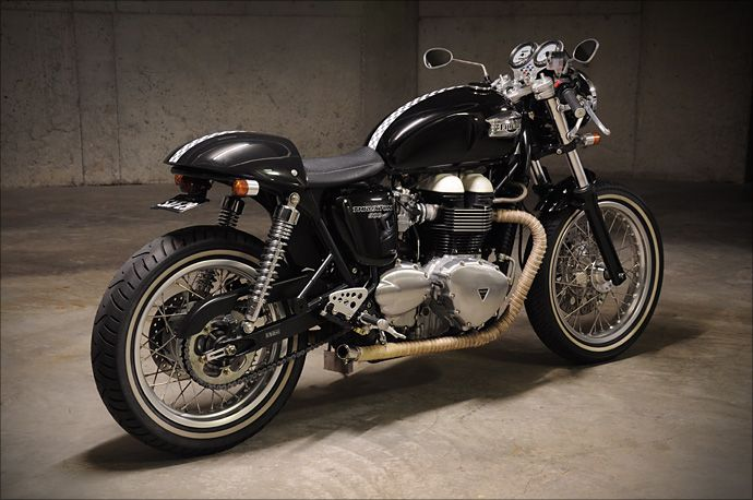 2006 Triumph Thruxton. nearly sold my soul and bought one of these in 2006 but it was a bridge to far.