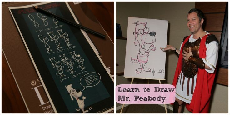 Learn to Draw Mr. Peabody. Behind the Scenes at Dreamworks Studios