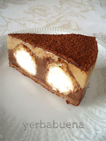 """Tartita muuuuuuuuuuy rica y facilona Es otra versión de la tarta de profiteroles de Florelila, esta vez de dos capas de flan: la """"superchocolate"""" de Canelo..."""