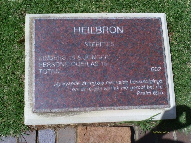 Anglo Boere Oorlog/Boer War (1899-1902) HEILBRON Kamp/Concentration Camp 602 sterftes. Psalm 69:5 My vyande dwing my met valse beskuldigings.... om af te gee wat ek nie geroof het nie.