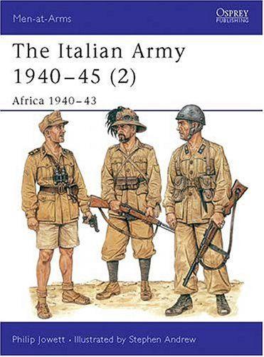 The Italian Army 1940-45 (2): Africa 1940-43 by Philip Jowett https://www.amazon.ca/dp/1855328658/ref=cm_sw_r_pi_dp_rLxcxb1VXYCKQ