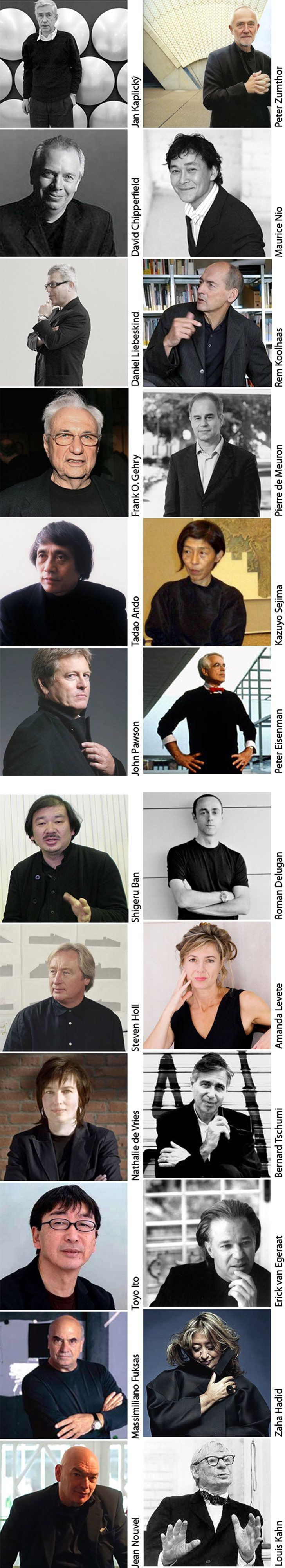 I received an email with the subject 'architect's dress code‏' from Martin Nagy. He found photos on google and he compiled them on list so now it is easy t