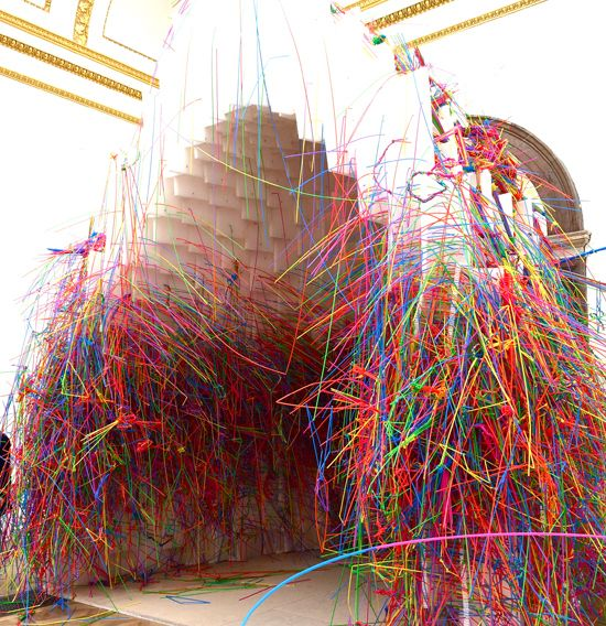 17 best images about plastic straw sculptures on pinterest for Plastic straw art