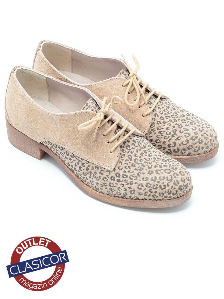 Pantofi casual crem dama din piele intoarsa – 014 | Pantofi piele online / outlet incaltaminte piele | Clasicor