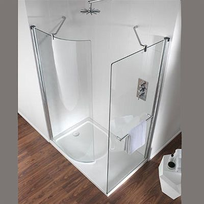 Hydr8 Walk In Curve Panel LH or RH – Shower Enclosures and Trays - Twyford