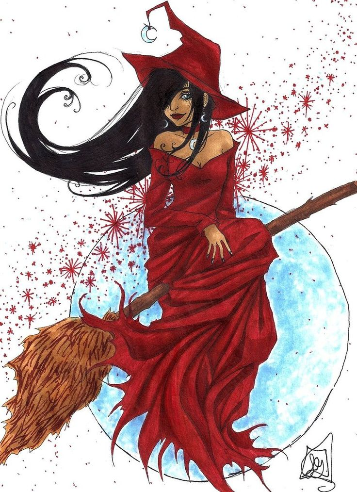 Halloween 2009 - Red Witch by Roots-Love on deviantART