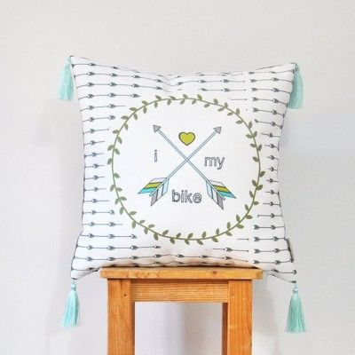 """Coussin """"I love..."""" #BeMyGift #men #cushion #home #bike #gift #wishlist"""