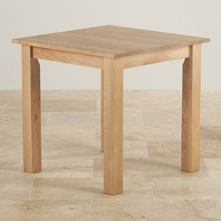 "£349 Hudson 2ft 6"" x 2ft 6"" Natural Solid Oak Square Dining Table"