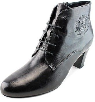 Gerry Weber Kate 12 Women Round Toe Leather Black Ankle Boot.