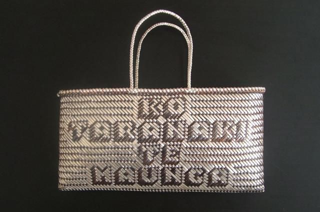 Copper and silver woven kete by Matthew McIntyre-Wilson. Unbelievable skill.