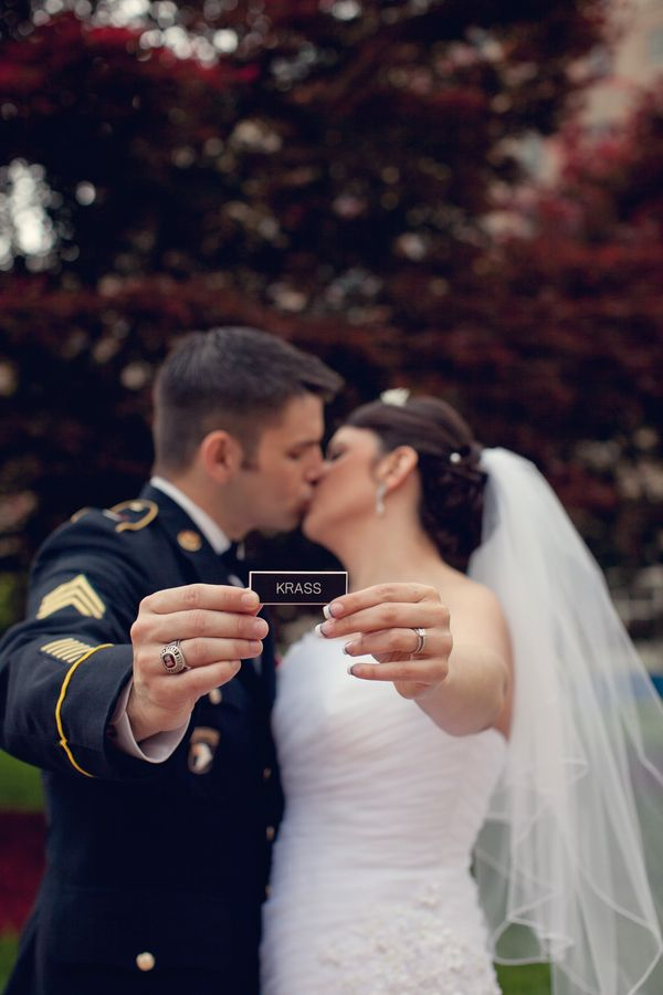 Bride Marries Her Hero with Military Pride | Soldiers & Sailors Memorial Hall & Museum | Wedding | Pittsburgh | Military Wedding | Name Bar | Grand Ballroom | Simply Couture Photography