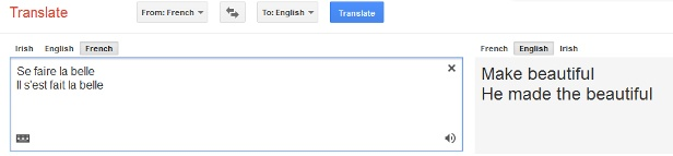 Some French Machine Translation Errors-  Se faire la belle - to take french leave